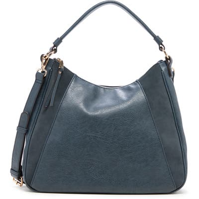 Sole Society Suede & Faux Leather Shoulder Bag - Blue