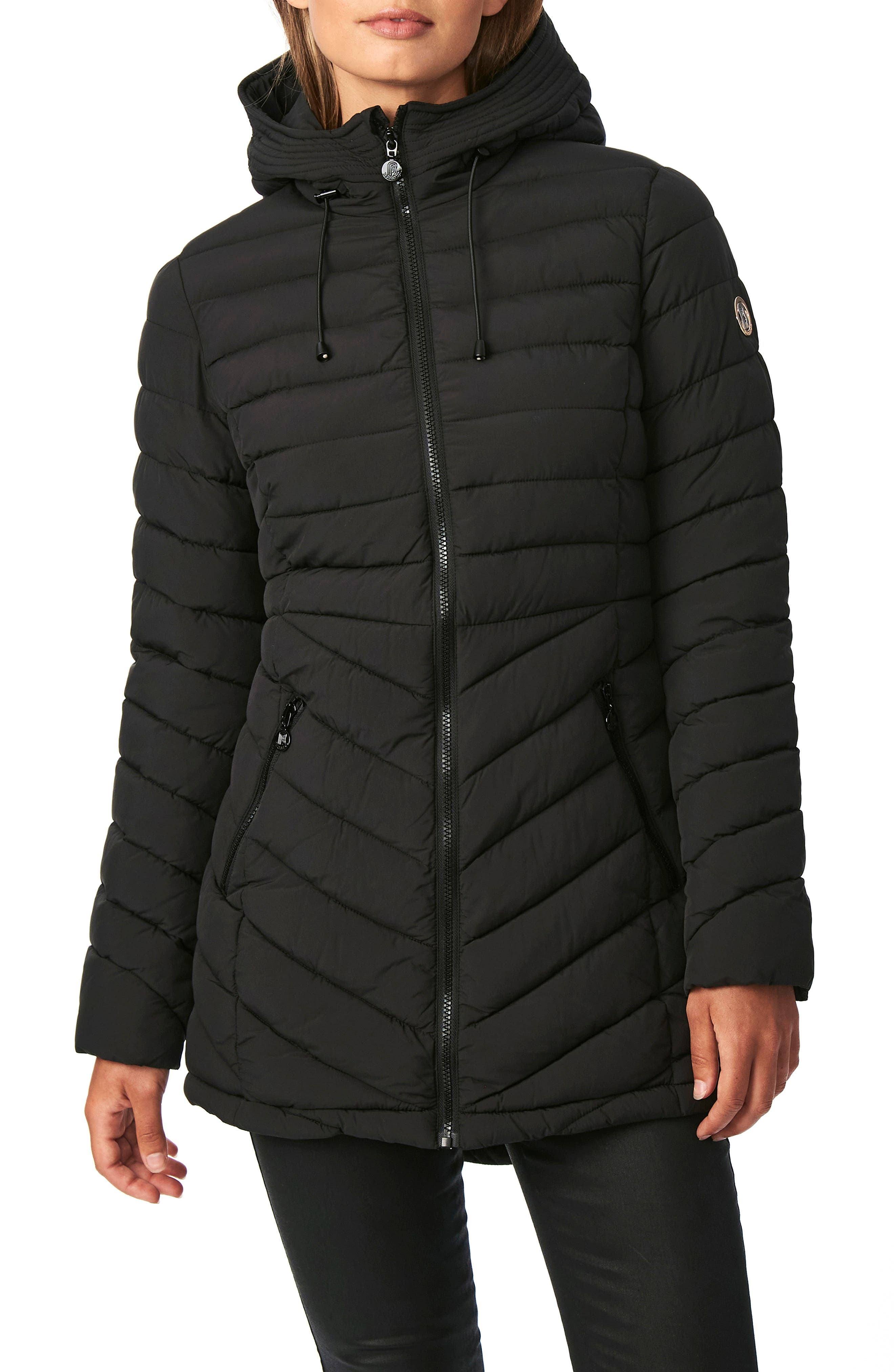 Women's Bernado Packable Ecoplume(TM) Hooded Walker Coat