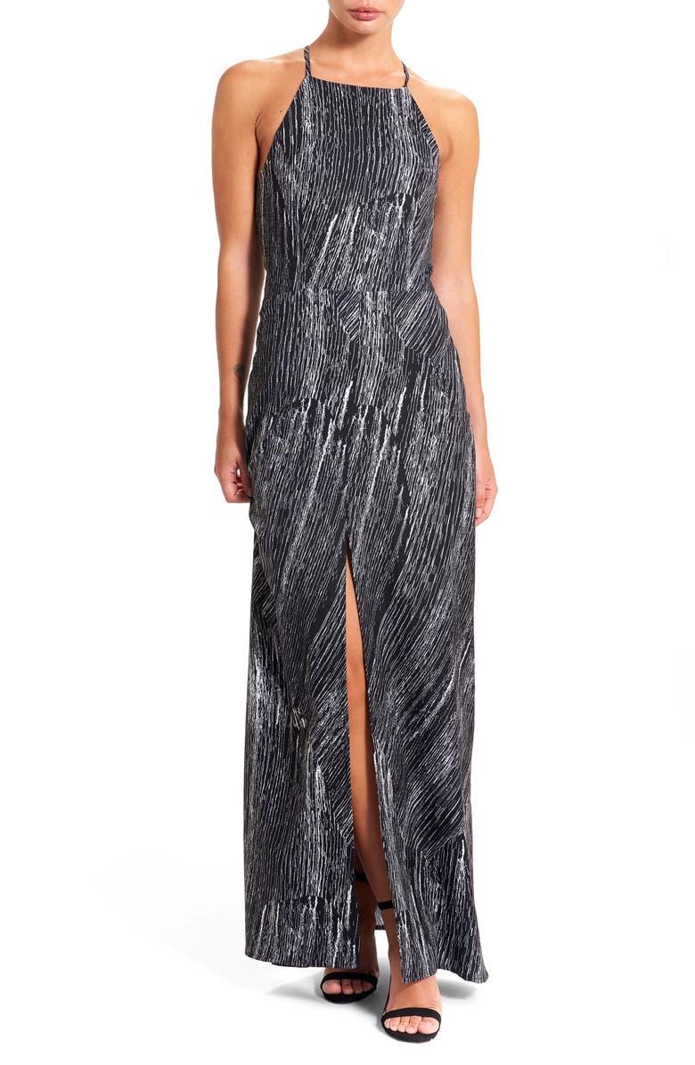 THIEVES LIKE US Halter Maxi Dress, Main, color, 001