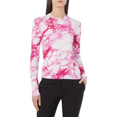 Versace Tie Dye Long Sleeve T-Shirt, US - Pink