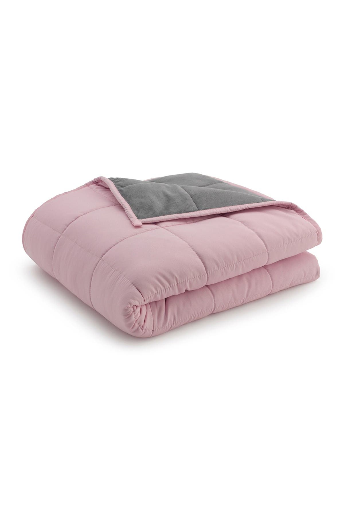 Image of Ella Jayne Reversible Weighted Anti-Anxiety Blanket - Grey/Pink - 15lbs