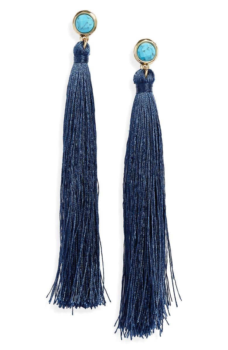 KNOTTY Fringe Tassel Earrings, Main, color, 400