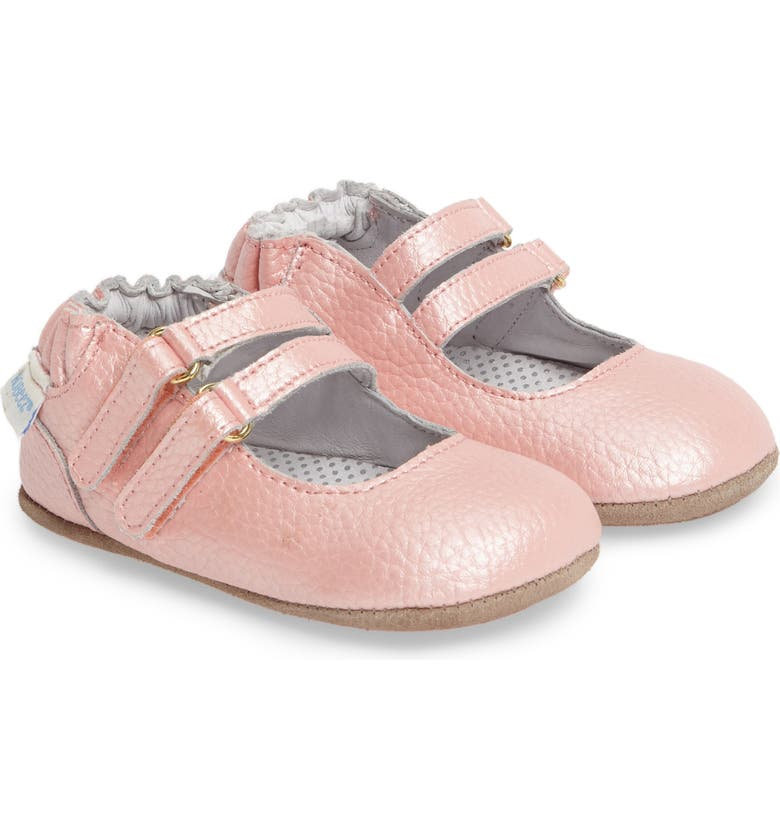 ROBEEZ<SUP>®</SUP> Rose Mary Jane Crib Shoe, Main, color, 680