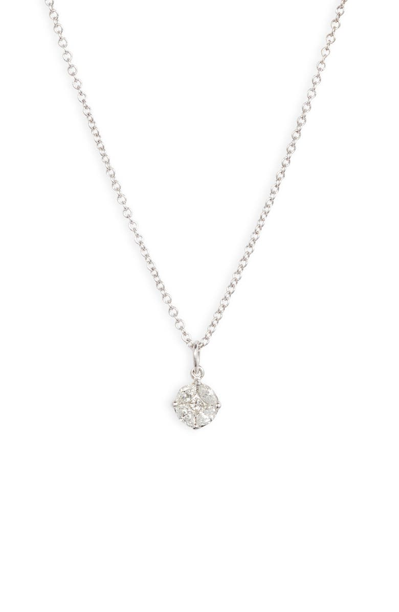 BONY LEVY Gatsby Round Diamond Pendant Necklace, Main, color, WHITE GOLD/ DIAMOND