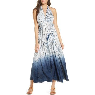 Surf Gypsy Dip Dye Cover-Up Maxi Dress, White