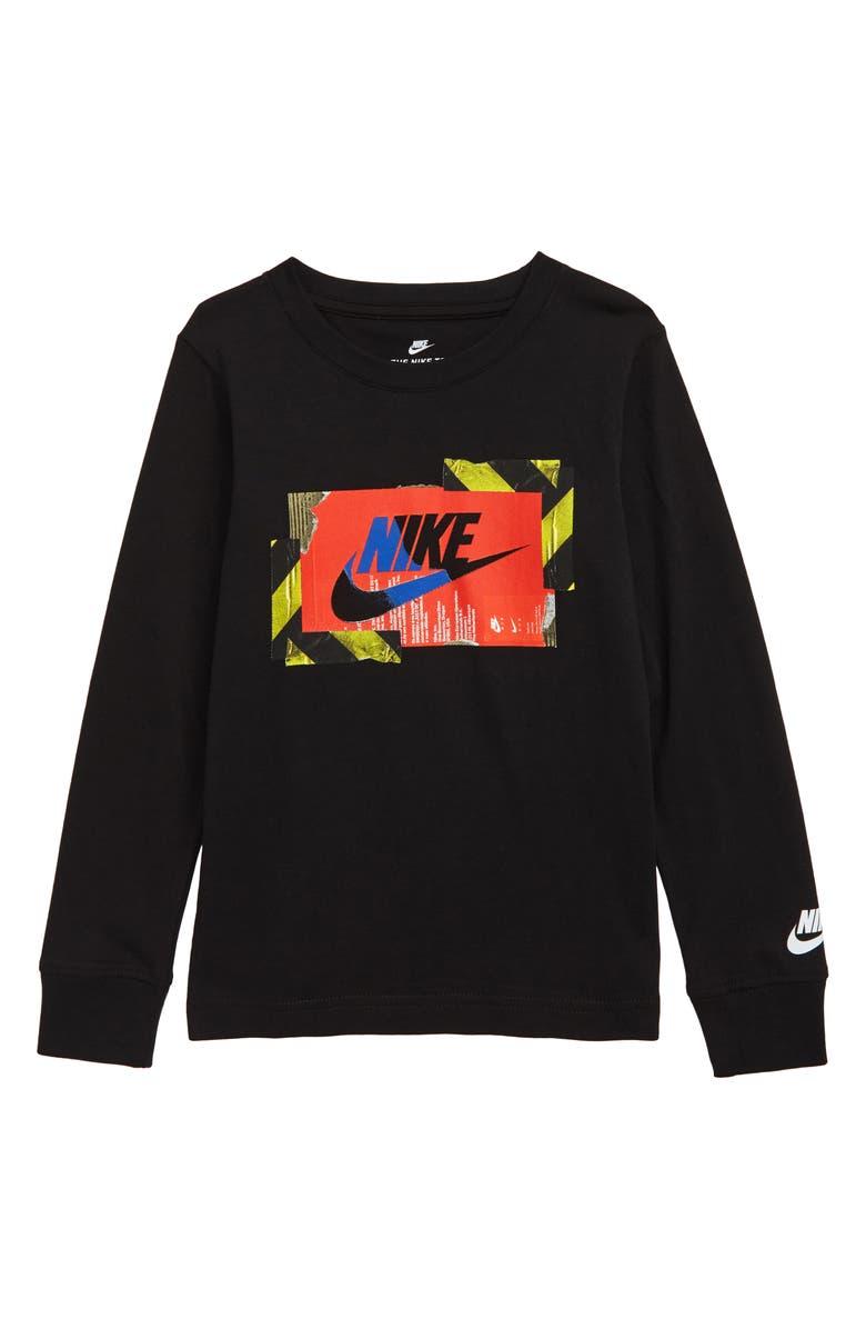 NIKE Futura Hazard Graphic T-Shirt, Main, color, BLACK