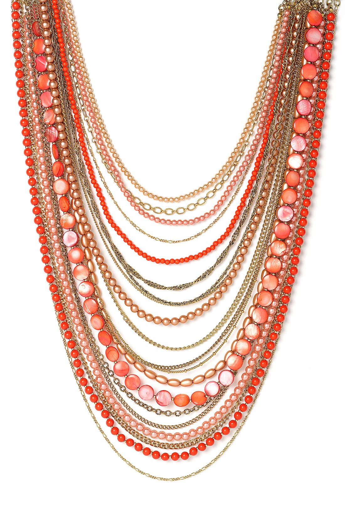 ,                             Beaded Long Multistrand Necklace,                             Main thumbnail 18, color,                             600
