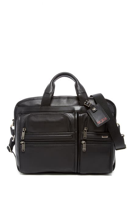 Image of Tumi Alpha T-Pass™' Medium Screen Laptop Slim Leather Briefcase