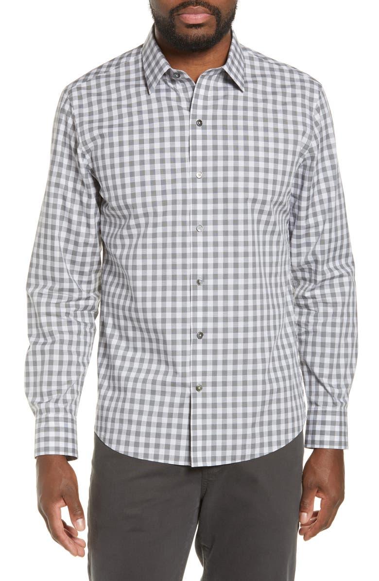 ZACHARY PRELL Schwantes Regular Fit Check Sport Shirt, Main, color, 050
