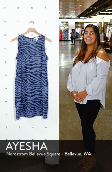 Zebra Print Chambray Shift Dress, sales video thumbnail