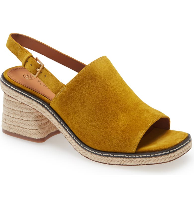 TORY BURCH Ankle Strap Espadrille Sandal, Main, color, MUSTARD