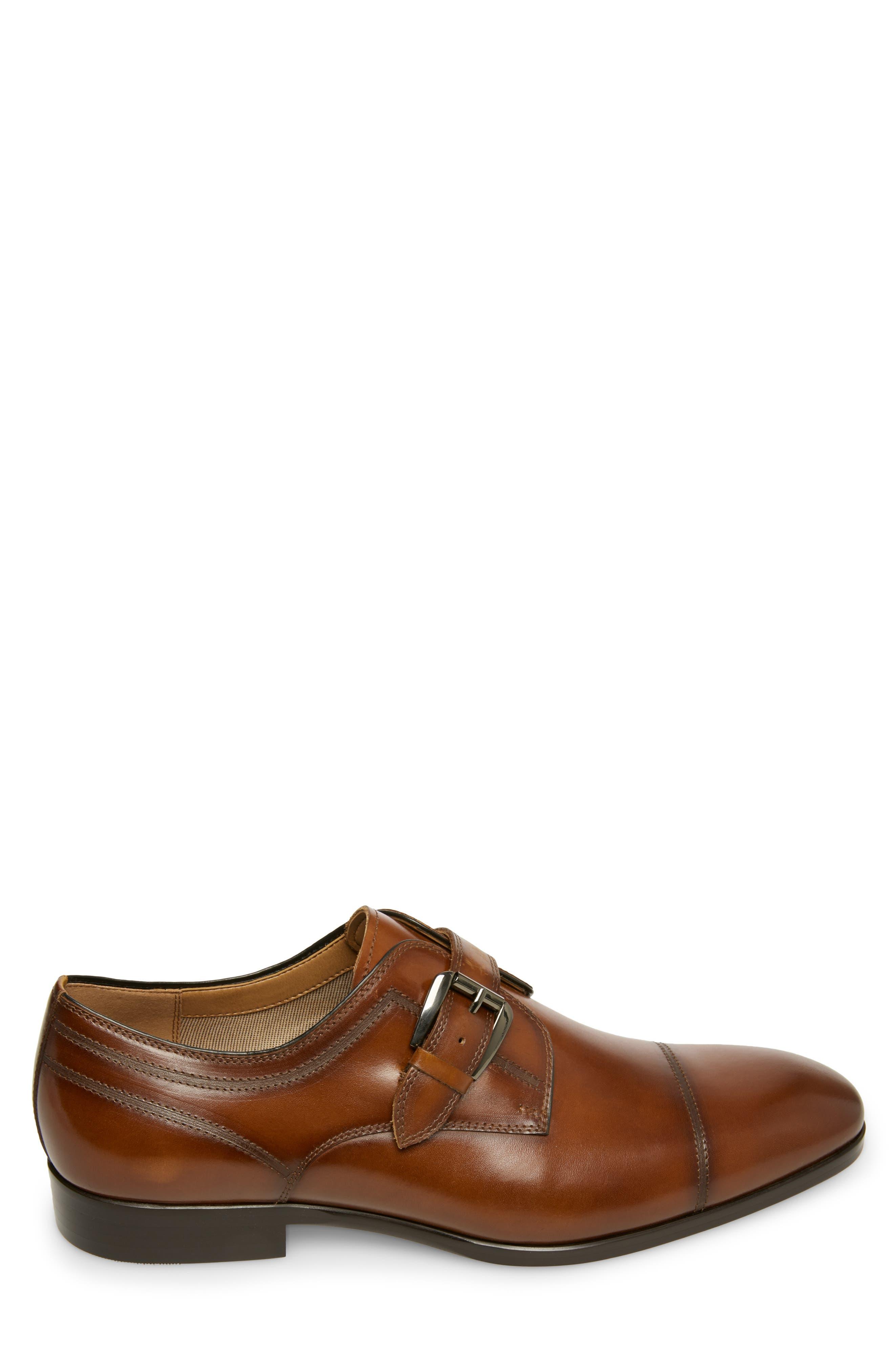 ,                             Covet Monk Strap Shoe,                             Alternate thumbnail 3, color,                             COGNAC LEATHER