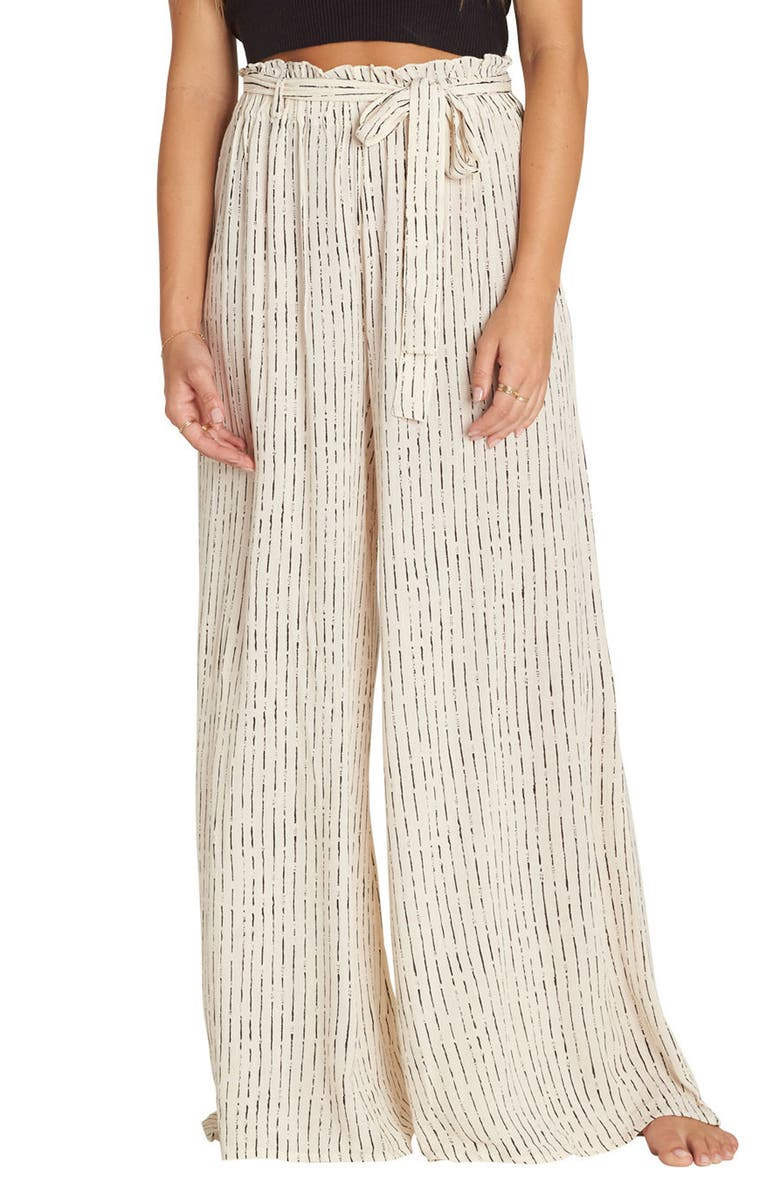 BILLABONG Happy Dance Stripe Wide Leg Pants, Main, color, 250