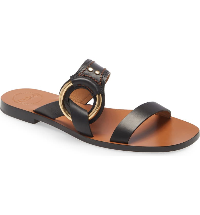 CHLOÉ Demi Slide Sandal, Main, color, BLACK