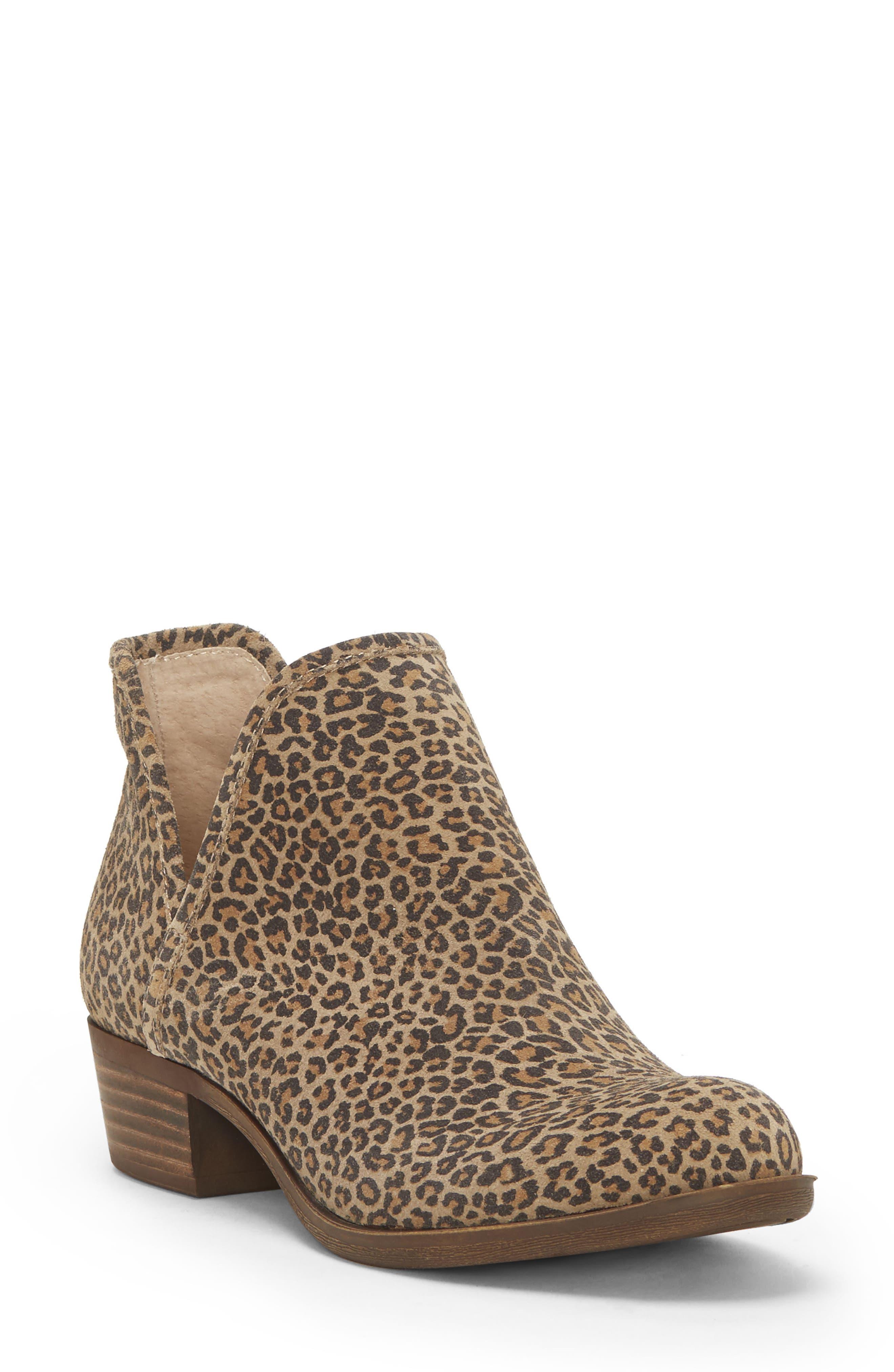 Image of Lucky Brand Baley Leather Block Heel Bootie