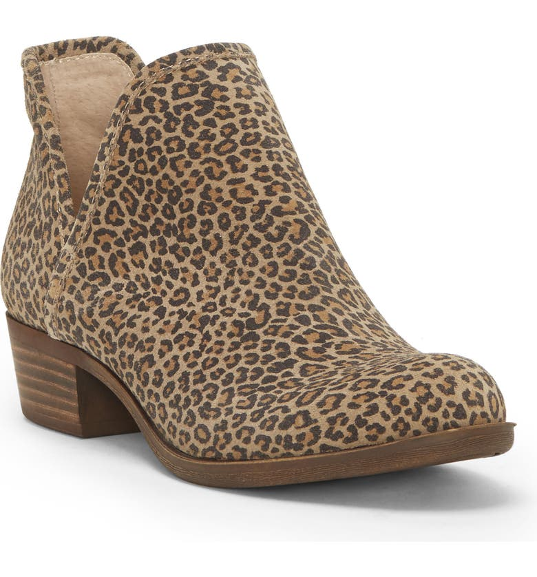 LUCKY BRAND Baley Bootie, Main, color, EYELASH SUEDE