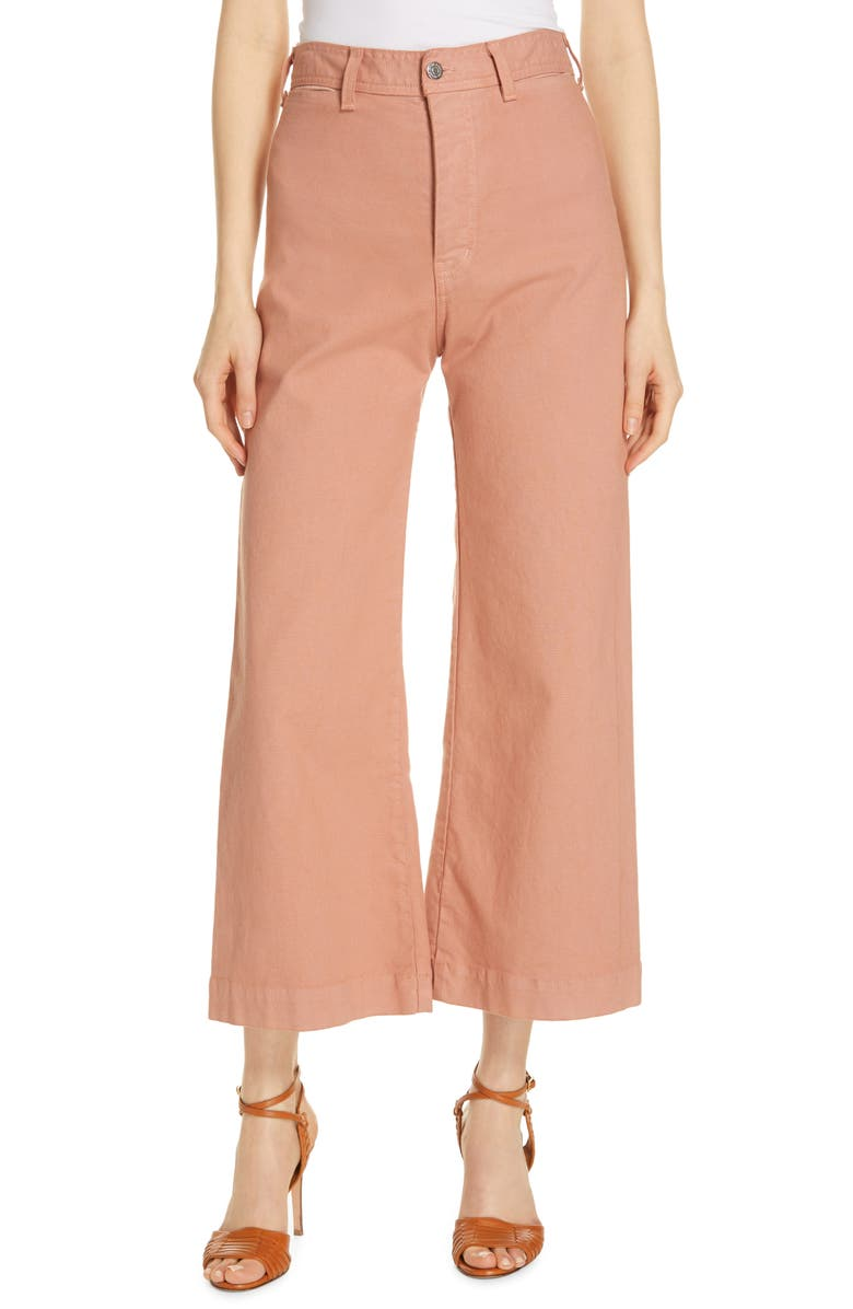Cynthia Crop Wide Leg Jeans by Veronica Beard