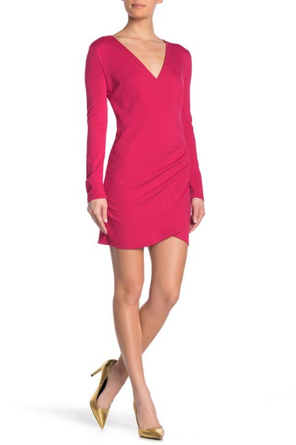 Image of Love by Design Alexandra Surplice Long Sleeve Mini Dress