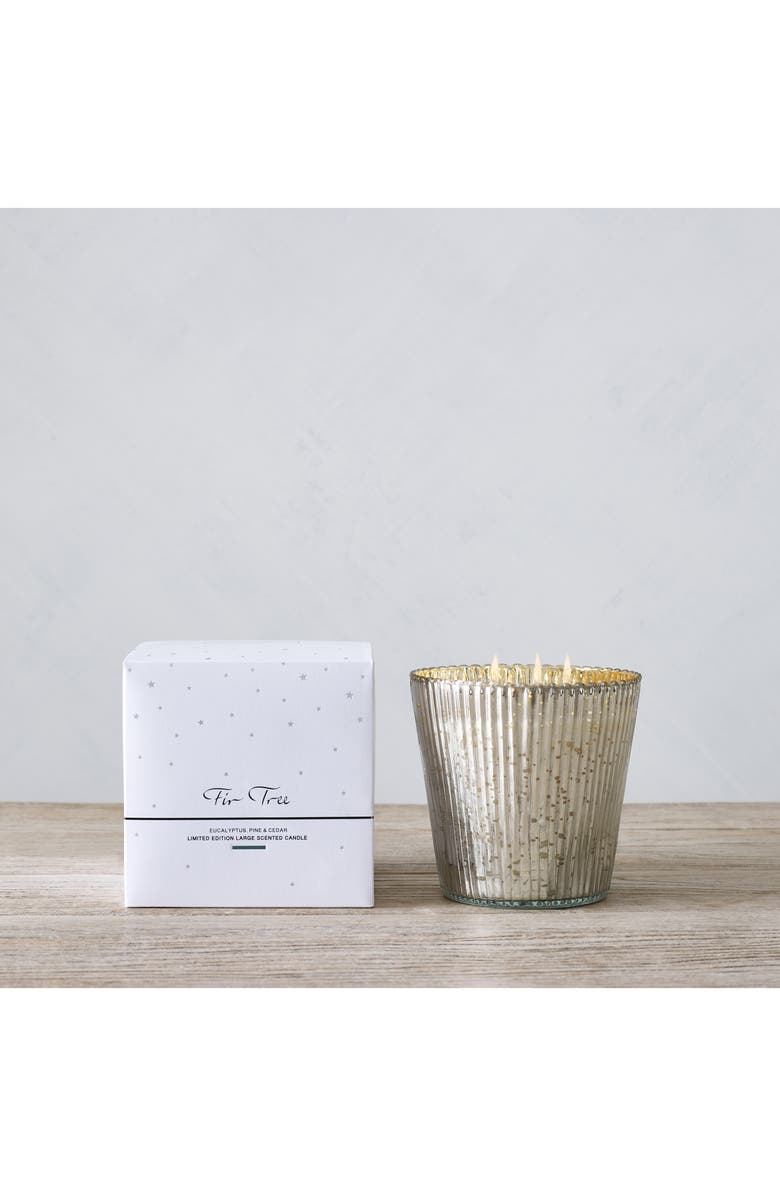 THE WHITE COMPANY Large Fir Tree Candle, Main, color, WHITE