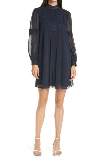 Ted Baker GEORRGI LACE TAPE LONG SLEEVE DRESS