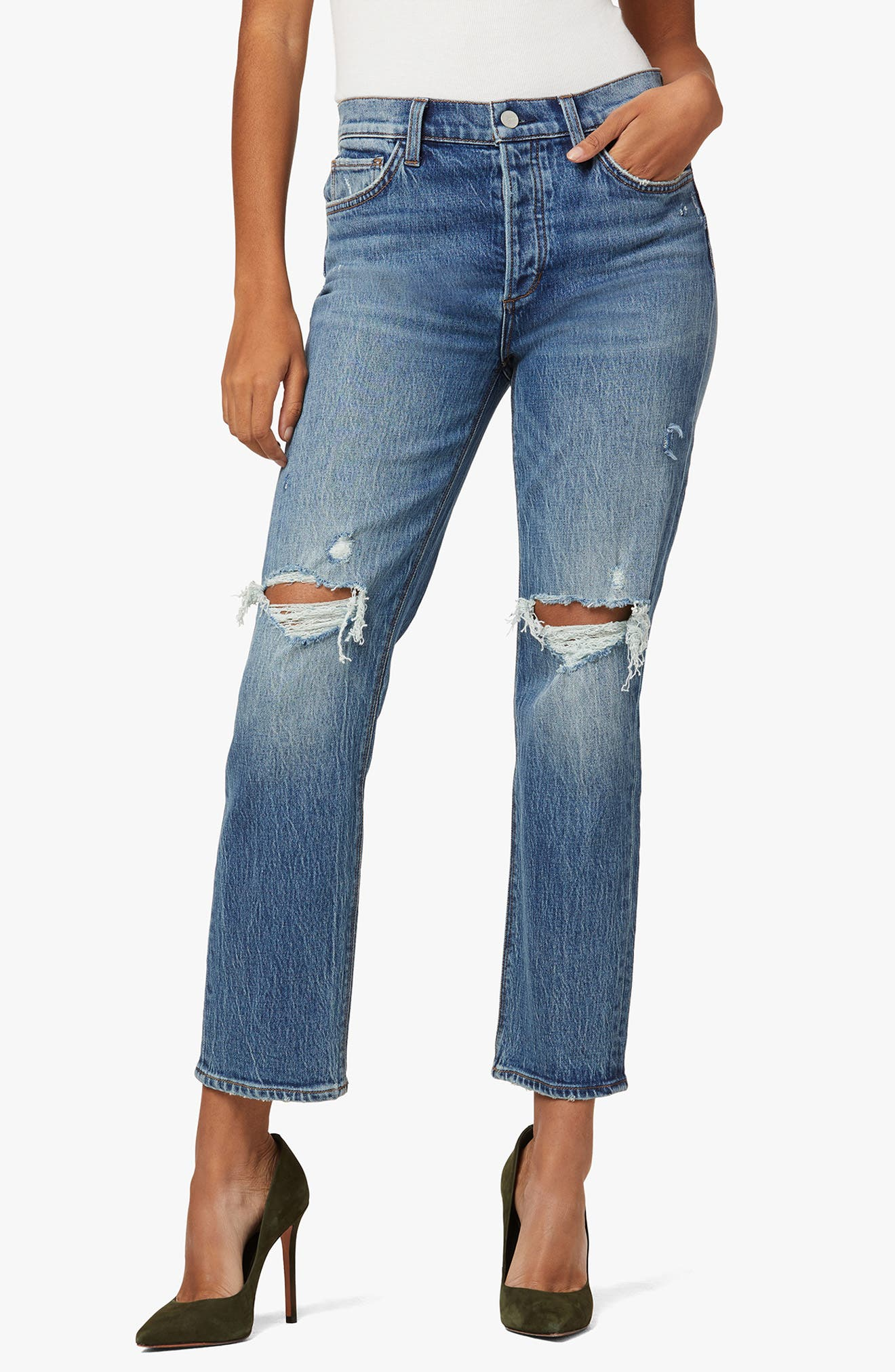 The Scout High Waist Ankle Straight Leg Jeans