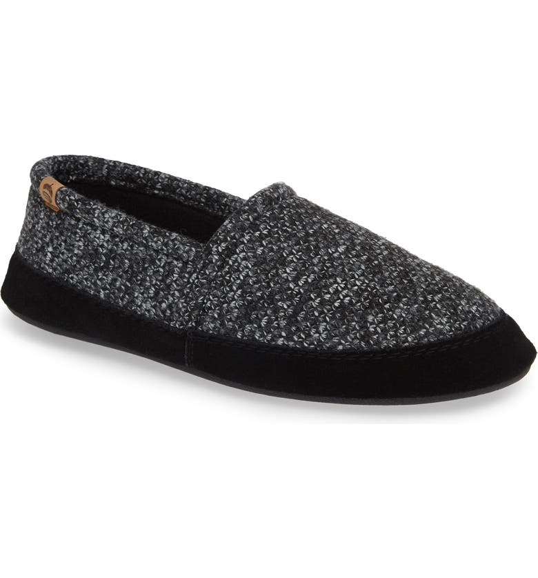 ACORN Moc Slipper, Main, color, BLACK TWEED