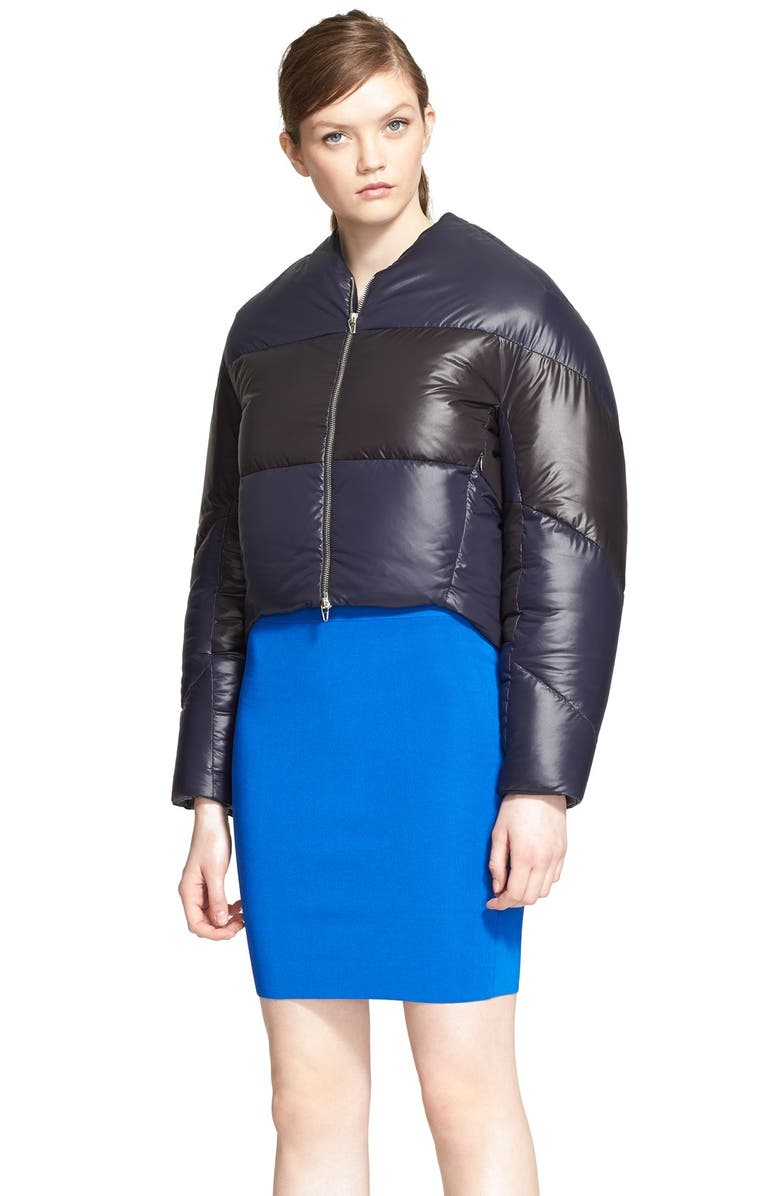 ALEXANDERWANG.T T by Alexander Wang Water-Repellent Crop Nylon Down Jacket, Main, color, 401
