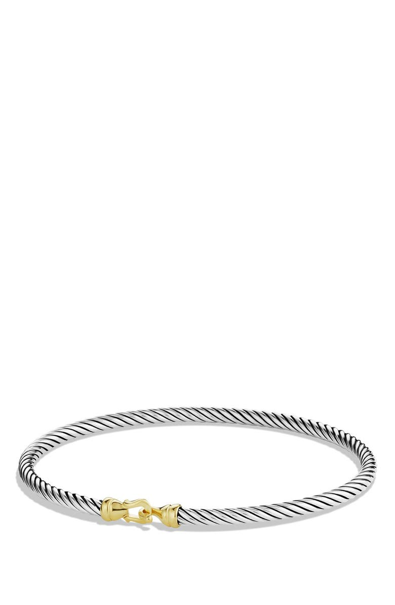 DAVID YURMAN Cable Collectibles Buckle Bangle Bracelet with 18K Gold, 3mm, Main, color, TWO TONE