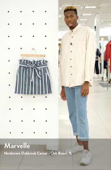 Stripe Paperbag Waist Miniskirt, sales video thumbnail