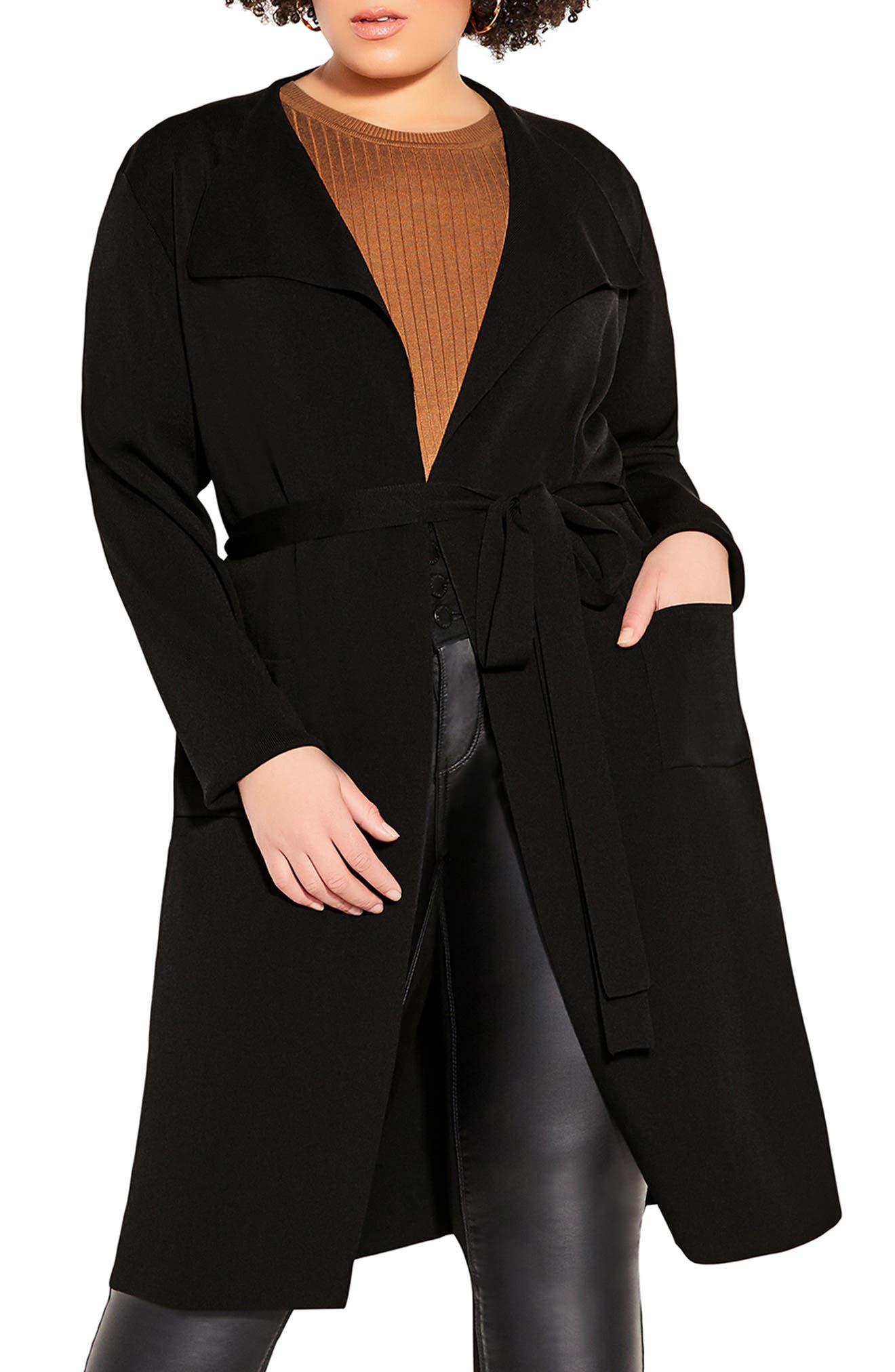 Delicate Knit Longline Cardigan
