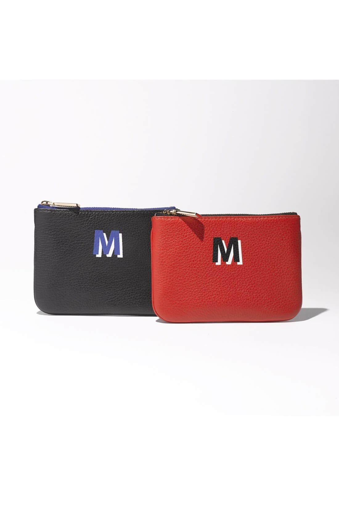 ,                             'Cory - A-Z' Leather Pouch,                             Alternate thumbnail 3, color,                             001