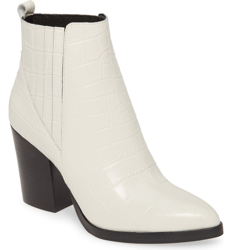 MARC FISHER LTD Alva Bootie, Main, color, CHIC CREAM LEATHER