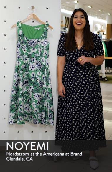 Floral Shoulder Bow Sleeveless Dress, sales video thumbnail