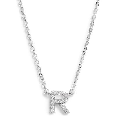 Nordstrom Delicate Cubic Zirconia Initial Pendant Necklace