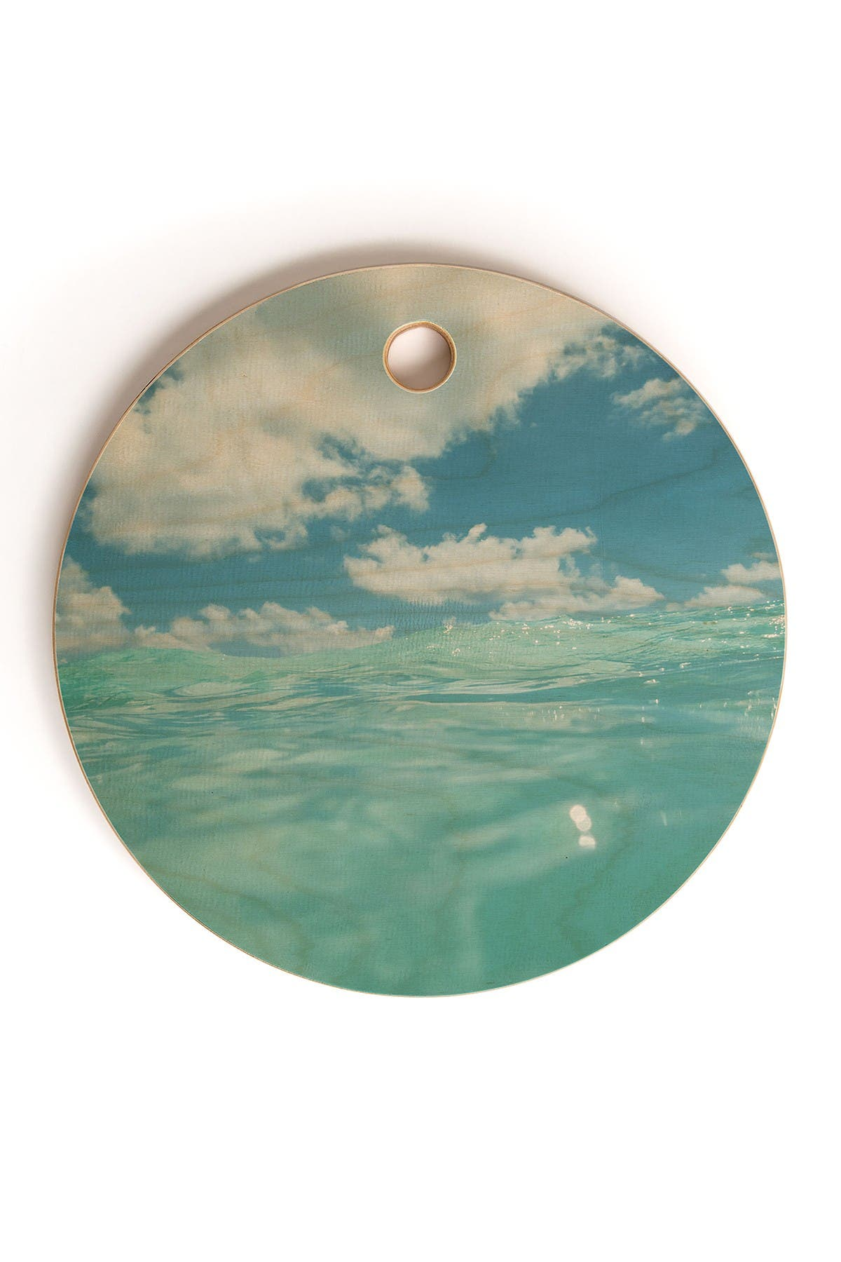 Image of Deny Designs Bethany Young Photography Hawaii Water VII Round Cutting Board