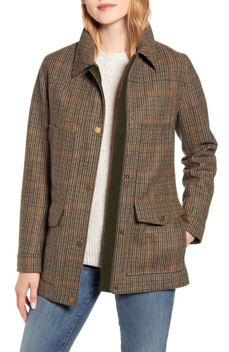 PENDLETON Missoula Water Resistant Field Coat, Main, color, BRONZE TWEED