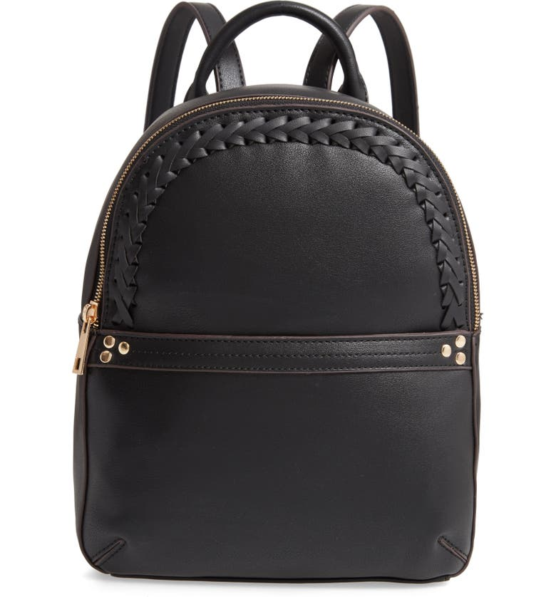 SOLE SOCIETY Dayla Faux Leather Backpack, Main, color, 001