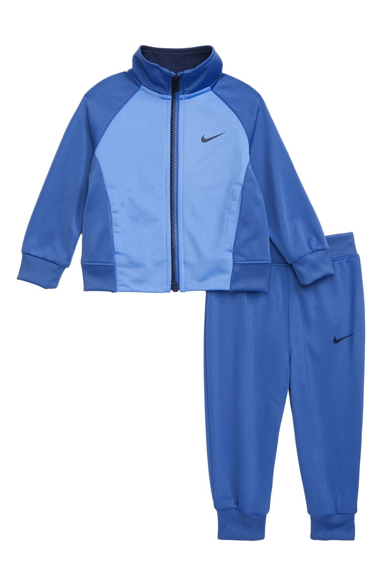 NIKE Colorblock Tricot Track Suit Set, Main, color, MOUNTAIN BLUE