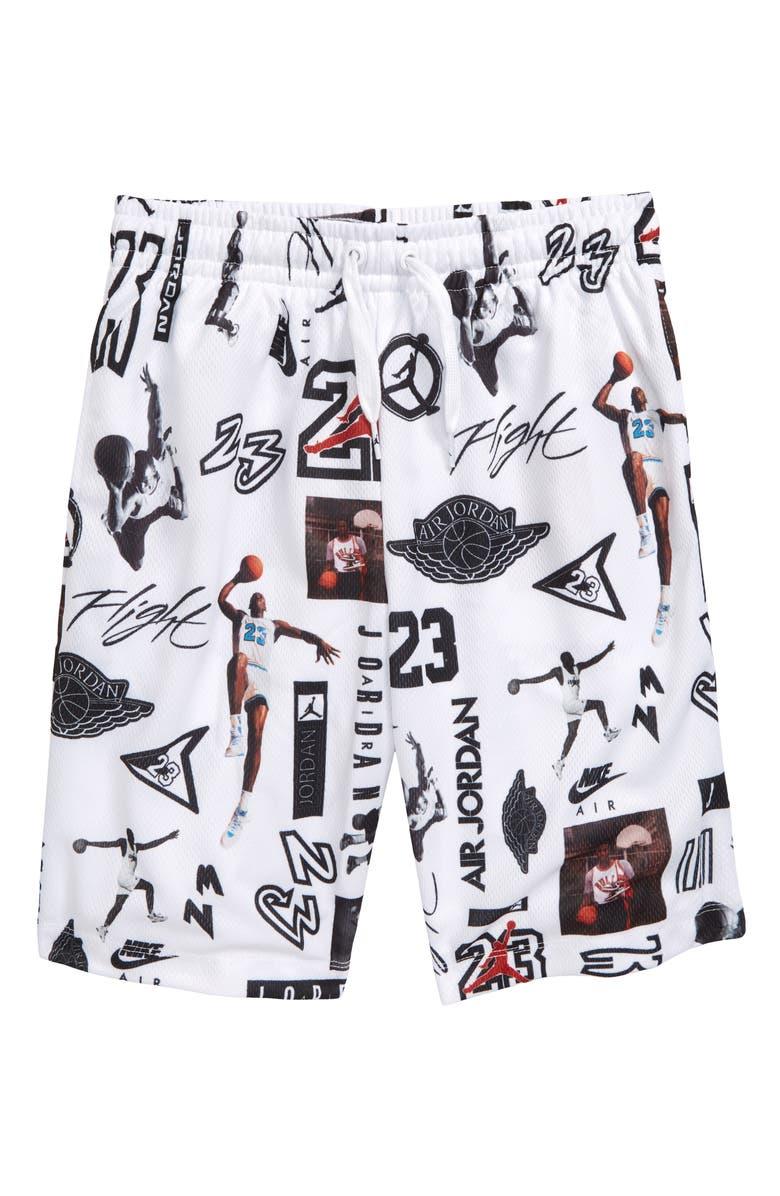 f72e414491d Jordan Jumpman GFX Print Mesh Shorts (Big Boys) | Nordstrom