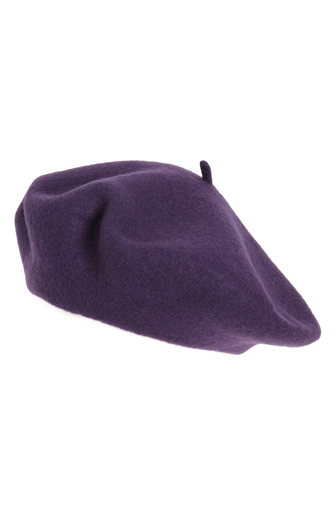 ,                             Wool Blend Beret,                             Main thumbnail 20, color,                             501