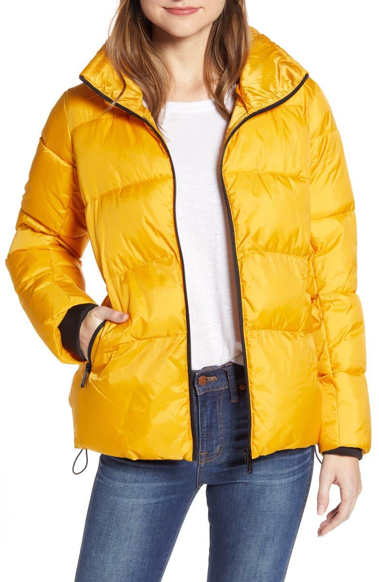 SAM EDELMAN Water Repellent Puffer Jacket, Main, color, MARIGOLD