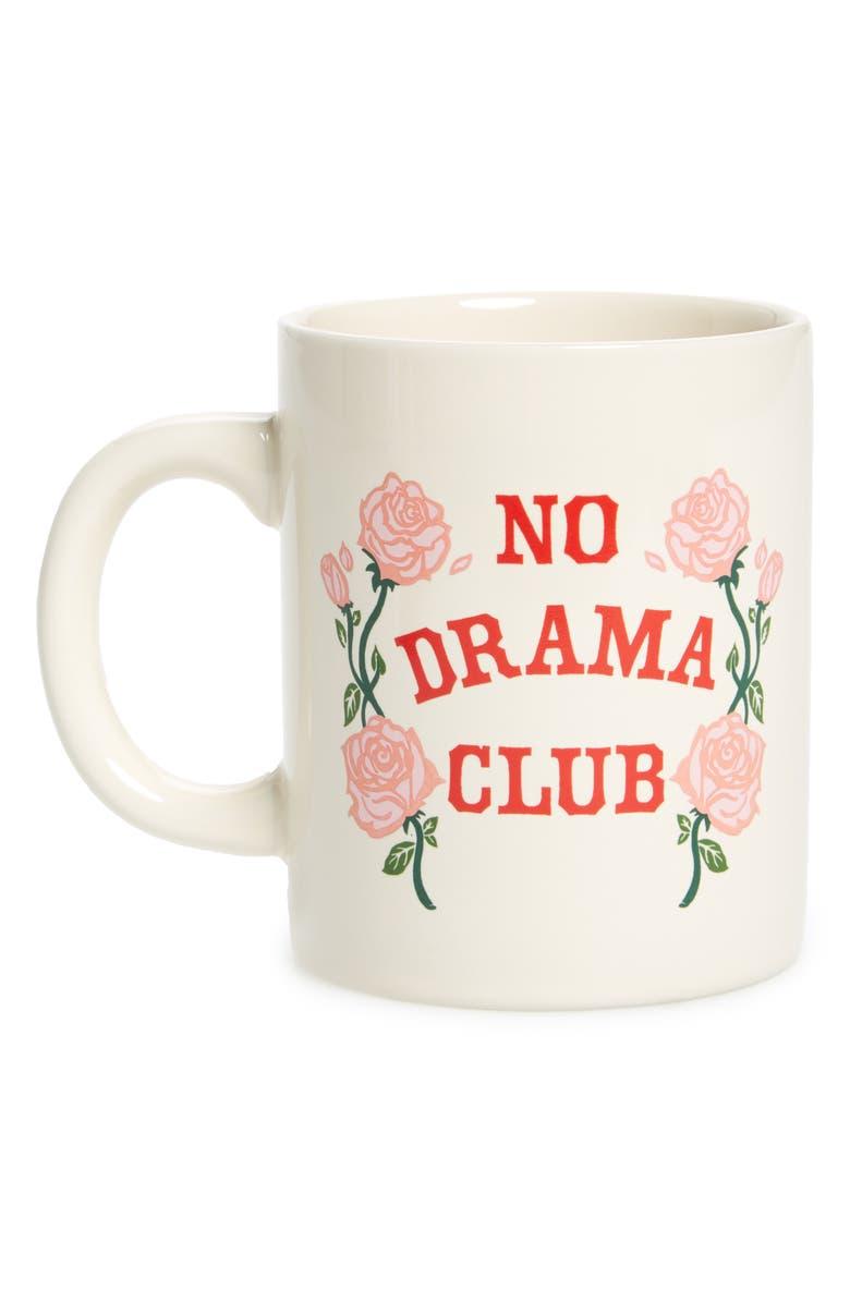 BAN.DO No Drama Club Ceramic Mug, Main, color, 900