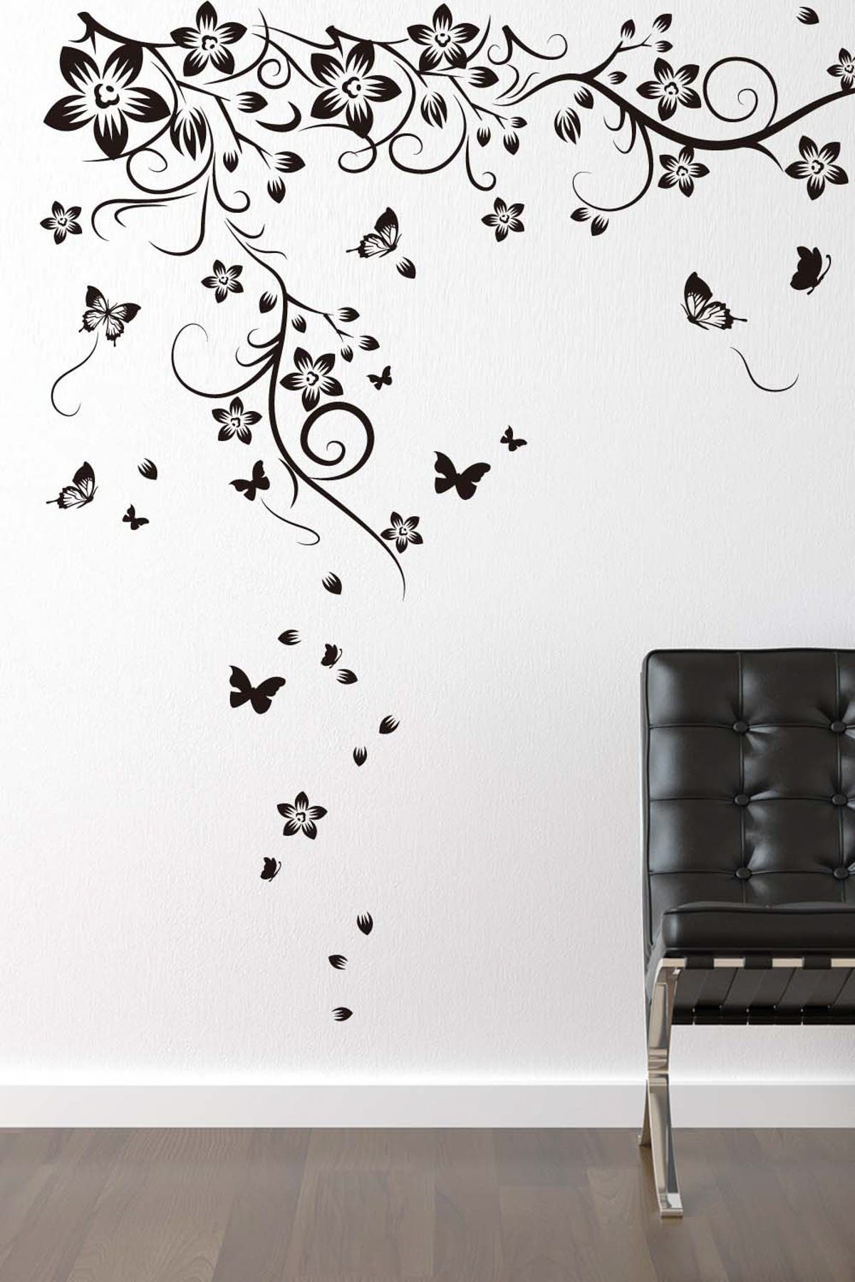 Image of WalPlus New Huge Butterfly Vine Decal