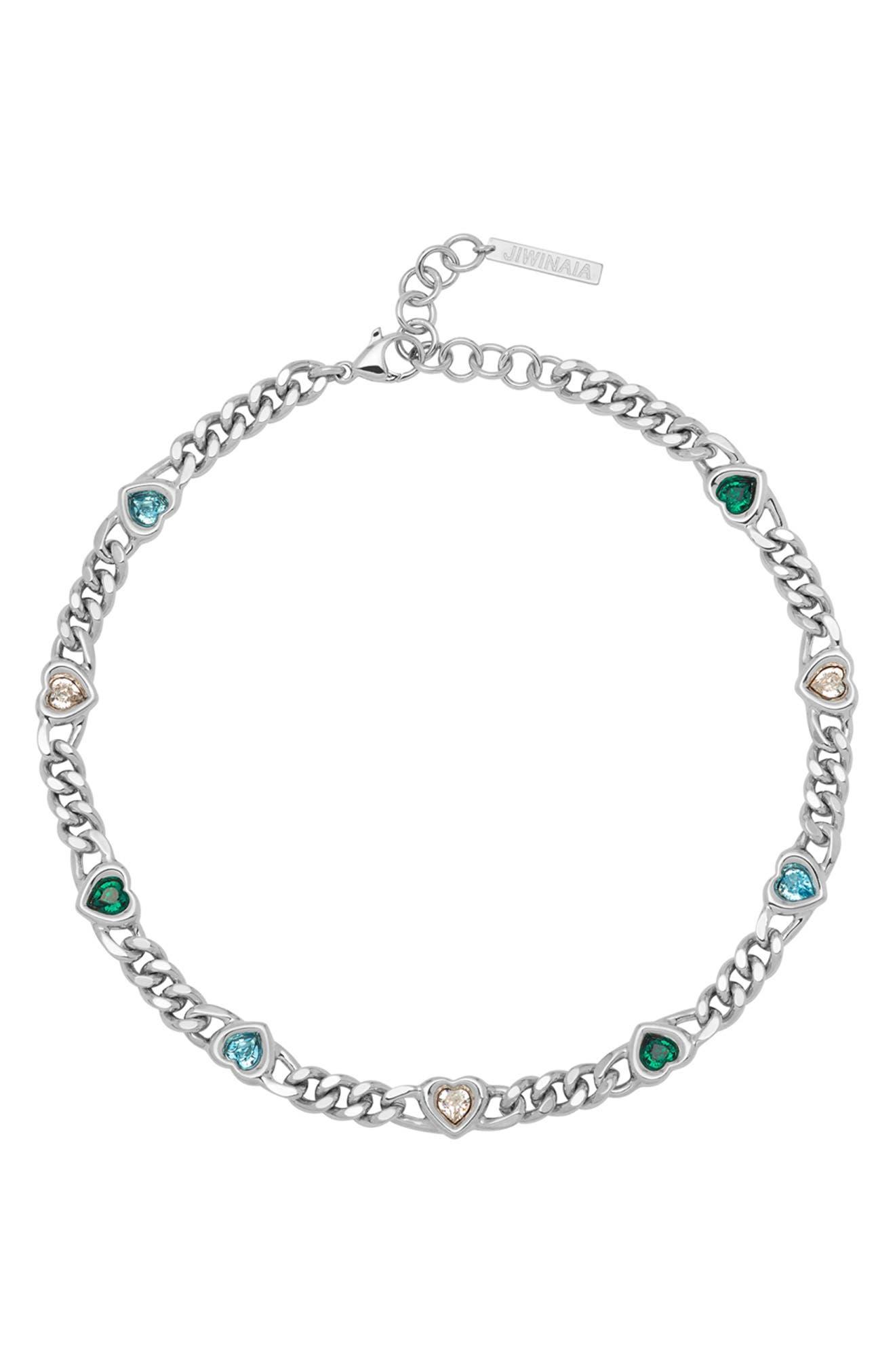 Swarovski Crystal Heart Chain Necklace