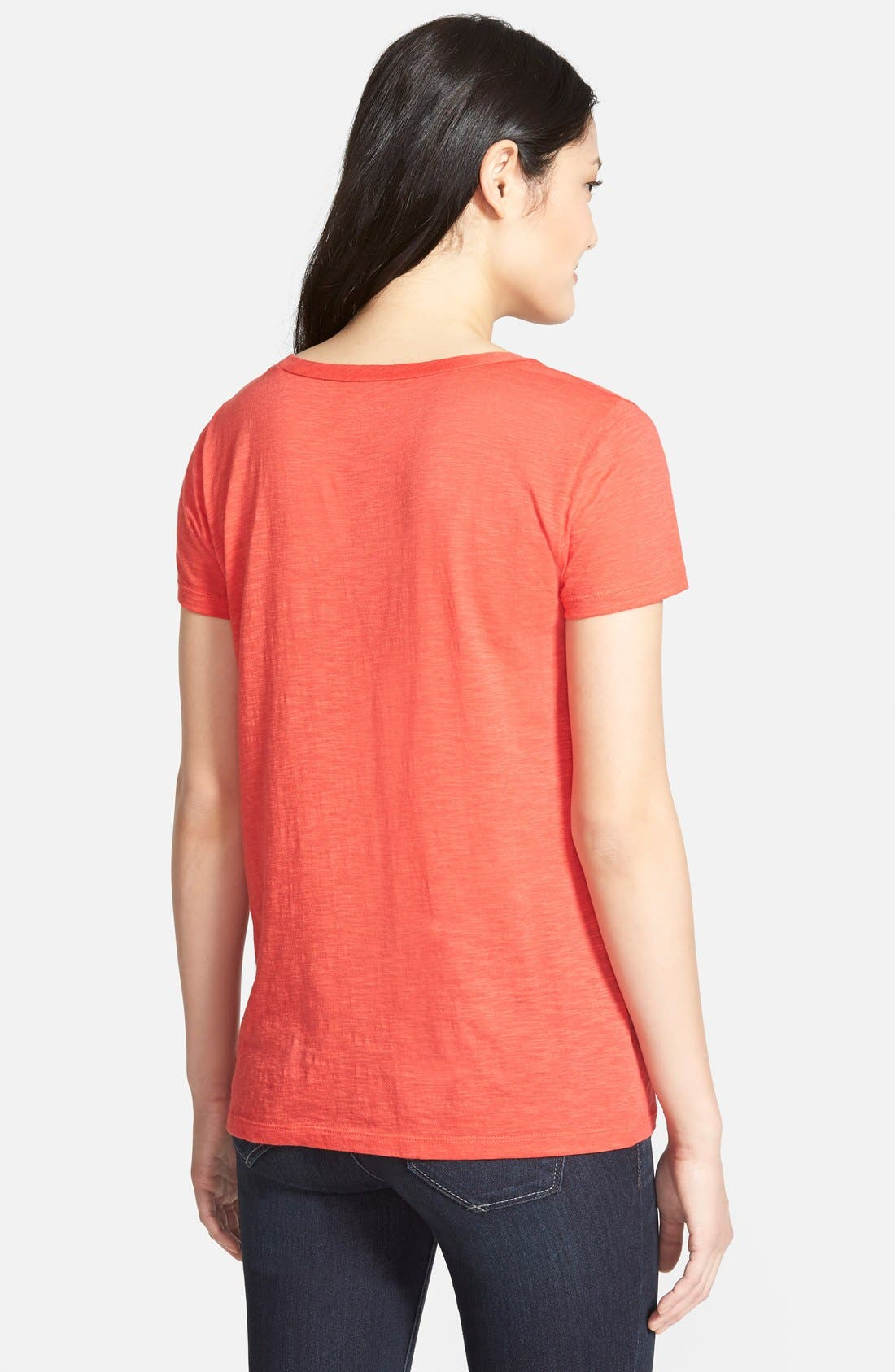 ,                             Relaxed Slub Knit U-Neck Tee,                             Alternate thumbnail 366, color,                             601