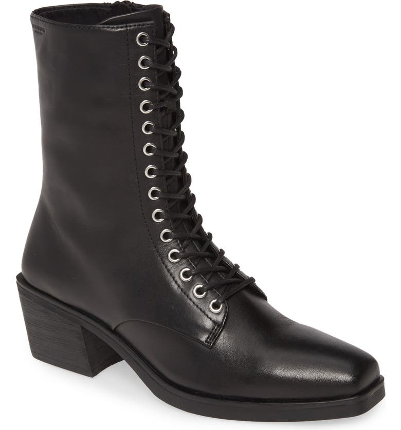 VAGABOND SHOEMAKERS Lace-Up Bootie, Main, color, BLACK LEATHER