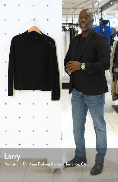 Button Shoulder Cashmere Pullover, sales video thumbnail