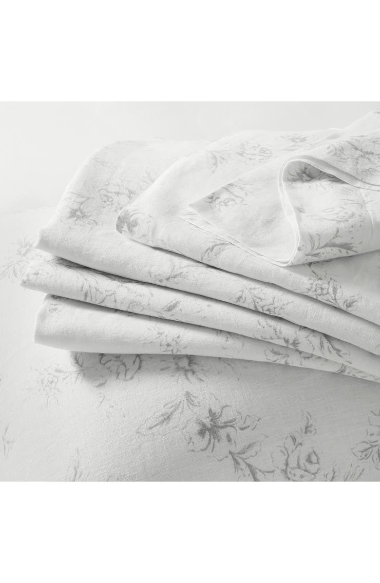 THE WHITE COMPANY Emilie Linen Flat Sheet, Main, color, CHALK