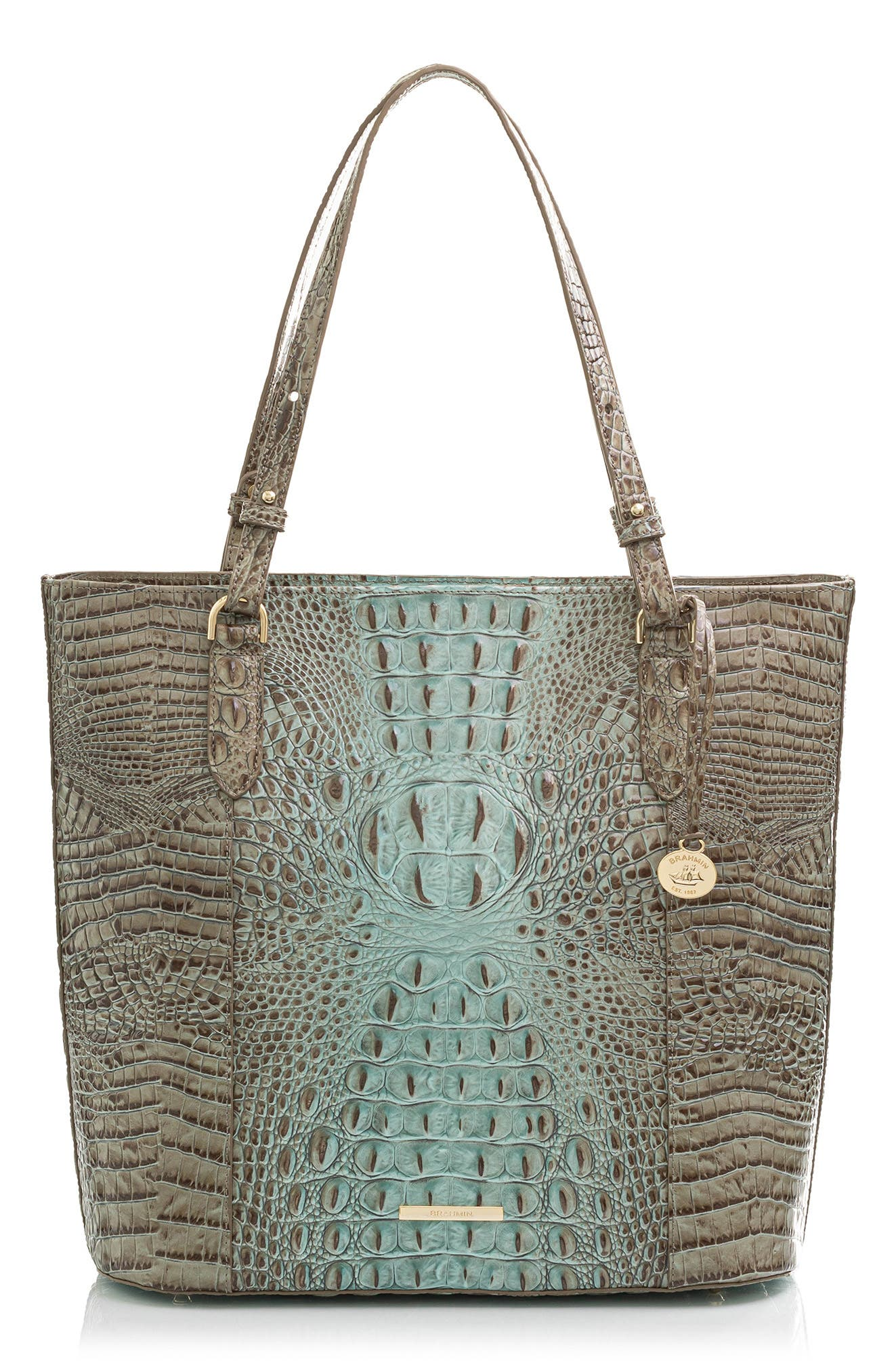 Abigail Croc Embossed Leather Tote
