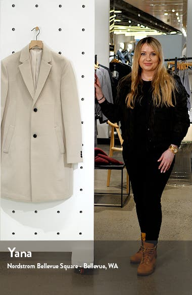 Justin Classic Fit Felt Topcoat, sales video thumbnail